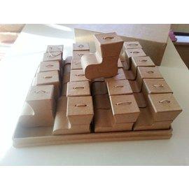 Dekoration Schachtel Gestalten / Boxe ... Caixa com Stiefelset sobre o projeto do Calendário de Natal