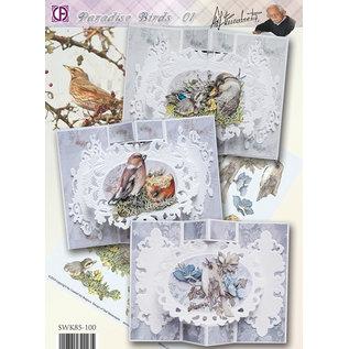 BASTELSETS / CRAFT KITS Komplettes Kartenset: Paradise Birds