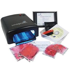 BASTELZUBEHÖR, WERKZEUG UND AUFBEWAHRUNG NUOVO: Imagepac Stamp Maker, Kit completo per rendere il proprio timbro chiaro!