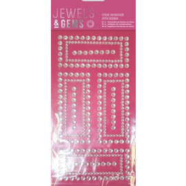 Embellishments / Verzierungen NY! Selvklebende Glitter steiner i dekorativ ramme