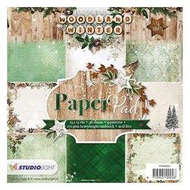 DESIGNER BLÖCKE / DESIGNER PAPER Papir Designersblock: Woodland