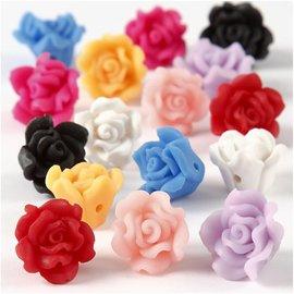 BASTELZUBEHÖR, WERKZEUG UND AUFBEWAHRUNG 8 roses de l'argile