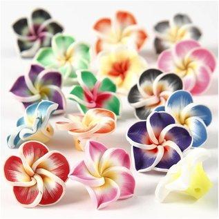 Embellishments / Verzierungen 8 rozen uit klei