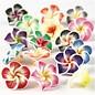 Embellishments / Verzierungen 8 roser fra ler