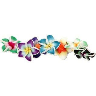 Embellishments / Verzierungen 8 Rosen aus Ton