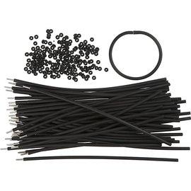 BASTELZUBEHÖR, WERKZEUG UND AUFBEWAHRUNG Bracelet, L: 20 cm, Thickness: 4 mm, Black