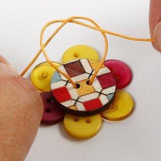 Embellishments / Verzierungen Button Mix range, D: 12 + 18 + 20 mm, 20 stuks, diverse kleuren