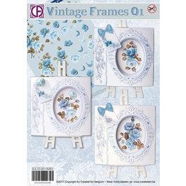BASTELSETS / CRAFT KITS Carte Complete Set Vintage Frames