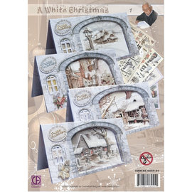 BASTELSETS / CRAFT KITS Complete card set: A White Christmas