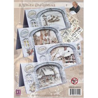BASTELSETS / CRAFT KITS Komplet kort sæt en hvid jul