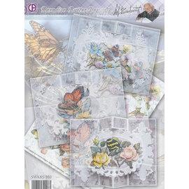 BASTELSETS / CRAFT KITS Cartão Conjunto Completo Paraíso Butterflies 02