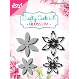 Joy!Crafts / Jeanine´s Art, Hobby Solutions Dies /  Stamping stencils + stamp: flowers, 2 pieces