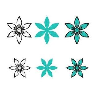 Joy!Crafts / Hobby Solutions Dies matrices de découpe + timbre: Fleurs, 2 pièces