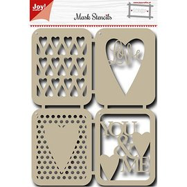 Joy!Crafts / Hobby Solutions Dies Máscara de Stencil: Hearts