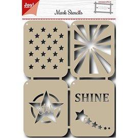 Joy!Crafts / Jeanine´s Art, Hobby Solutions Dies /  Maschera Stencil: Stars