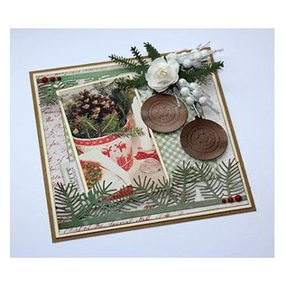 Joy!Crafts / Jeanine´s Art, Hobby Solutions Dies /  Stanzschablone: Pine Zweige und Holly