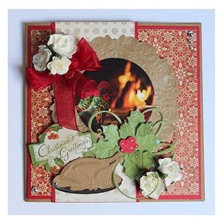 Joy!Crafts / Jeanine´s Art, Hobby Solutions Dies /  Stamping template: Holly with berries