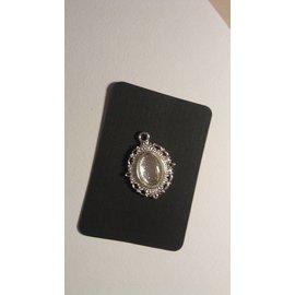 Embellishments / Verzierungen 1 Charm avec 1 verre Cabochon