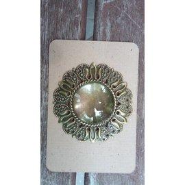 Embellishments / Verzierungen 1 encanto em Vintagelook com um vidro Cabouchon