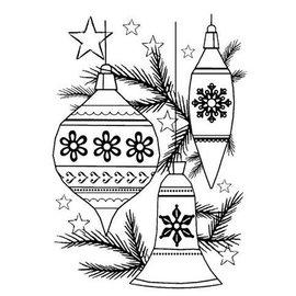 CREATIVE EXPRESSIONS und COUTURE CREATIONS NEW est arrivé! Clair / tampons transparents: boules de Noël Ensemble de Noël