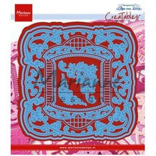 Marianne Design Stansning skabelon: dekorativ ramme, ornamental ramme Anja
