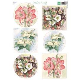 Bilder, 3D Bilder und ausgestanzte Teile usw... folha A4 de imagens: mais belas flores de Mattie