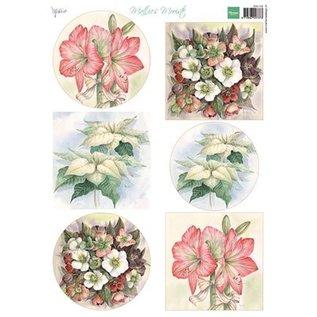 Bilder, 3D Bilder und ausgestanzte Teile usw... foglio A4 delle immagini: fiori più belli di Mattie