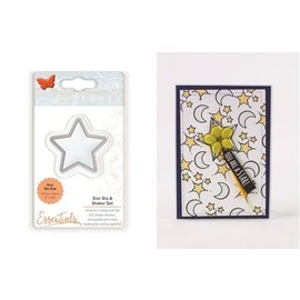 Tonic New! SET: Stamping template and blister shaker, with star