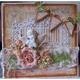 Spellbinders und Rayher Ponsen sjabloon, golden gate 11,1 x 7,3 cm - slechts één beschikbaar!