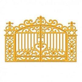 Spellbinders und Rayher Skæring og prægning Skabelon, goldenes gate 11,1 x 7,3 cm.