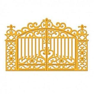 Spellbinders und Rayher Stanzschablone, goldenes Tor 11,1 x 7,3 cm - nur noch 1 vorrätig!