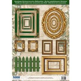Embellishments / Verzierungen folhas cortados molduras, com ouro 17 peças