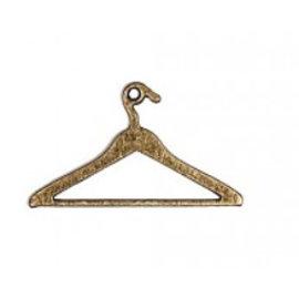 Embellishments / Verzierungen 2 Metal Charms, Mini Vintage Kleiderbügel