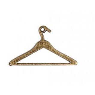 Embellishments / Verzierungen 2 ciondoli di metallo, Mini Vintage appendiabiti
