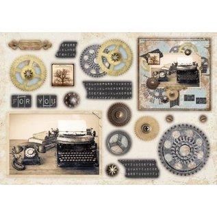 Bilder, 3D Bilder und ausgestanzte Teile usw... A5 Designersblock avec 12 feuilles perforées