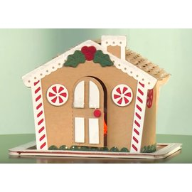 CREATIVE EXPRESSIONS und COUTURE CREATIONS Stamping template for a gingerbread house in 3D + punching template roof!