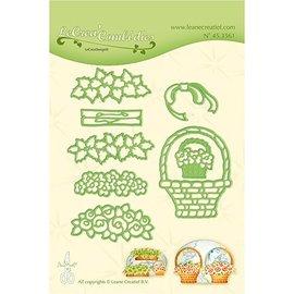 Leane Creatief - Lea'bilities Stamping template: Flower basket