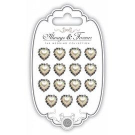 Embellishments / Verzierungen Verzierungen / Embellishments: Herzen mit Kristalle Steinchen