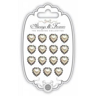 Embellishments / Verzierungen Ornements / embellissements: coeur avec pierres de cristaux