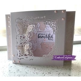 Die'sire NEW, Stamping template Create a card: Flutterby