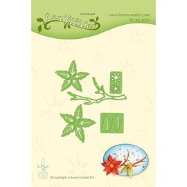 Leane Creatief - Lea'bilities Stamping template: Poinsettia small & twigs