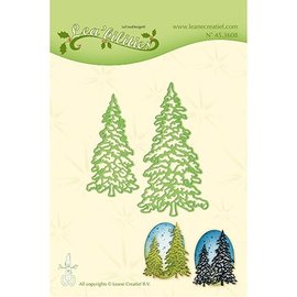 Leane Creatief - Lea'bilities Stamping template: 2 fir trees