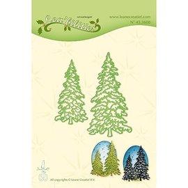 Leane Creatief - Lea'bilities und By Lene Stanzschablone: 2 Tannenbäumen