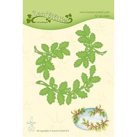 Leane Creatief - Lea'bilities Stamping template: leaves and branches