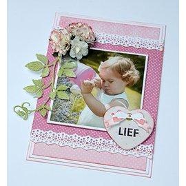 Joy!Crafts / Jeanine´s Art, Hobby Solutions Dies /  Cutting & Embossing: fleurs Mini bord latéral