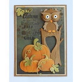 Joy!Crafts / Hobby Solutions Dies Modelos Cut / Corte e Gravação: Árvore do outono