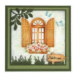Joy!Crafts / Jeanine´s Art, Hobby Solutions Dies /  Stanzschablone: Fenster mit Fensterläden