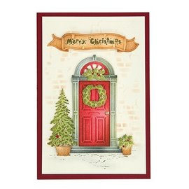 Joy!Crafts / Jeanine´s Art, Hobby Solutions Dies /  Stamping template: door with turquoise