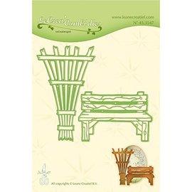 Joy!Crafts / Jeanine´s Art, Hobby Solutions Dies /  Découpe et gaufrage: banc de jardin et treillis
