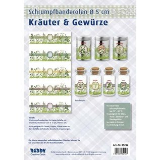 BANDEROLEN, Schrumpffolien Shrinking bands Banderoles for spices, 5 cm